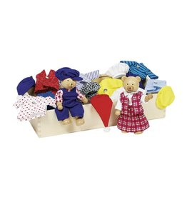 Goki Flexible Puppets - Bear Dress-Up Box