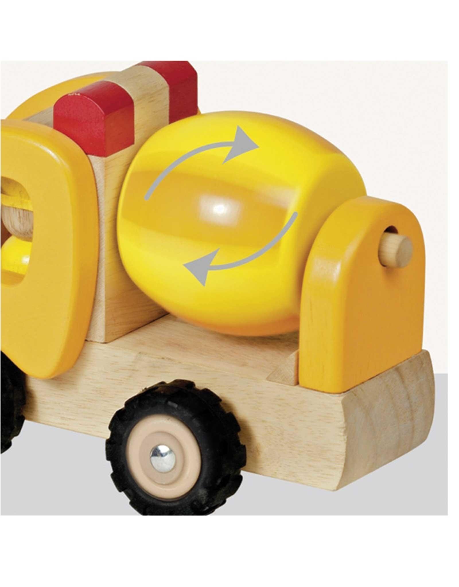 Goki Wooden Car - Cement Mixer