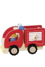 Goki Wooden Car - Fire Brigade