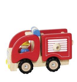 Goki Voiture en bois - Pompier