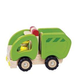 Goki Wooden Car - Garbage Truck