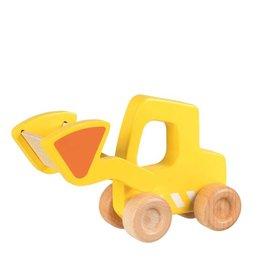 Goki Voiture en bois - Chargeuse sur pneus