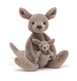 Jelly Cat Peluche - Kara le kangourou et son bébé