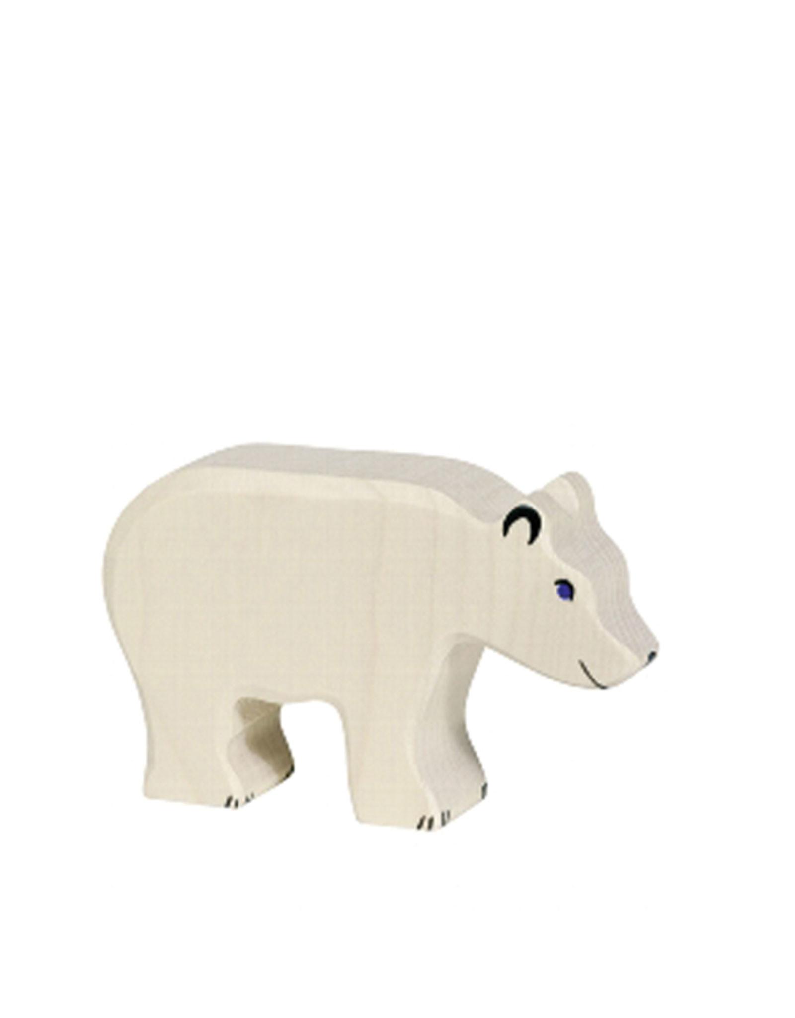 Holztiger Animal en bois - Ours polaire