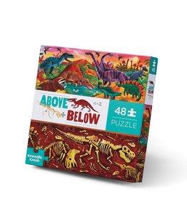 Crocodile Creek Puzzle - 48pieces - Above & Below Dinosaur World 4+