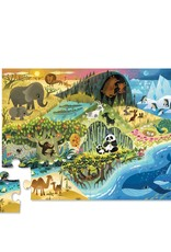 Crocodile Creek Puzzle - 24pieces - Early Learning - Where Animals Lives 2+