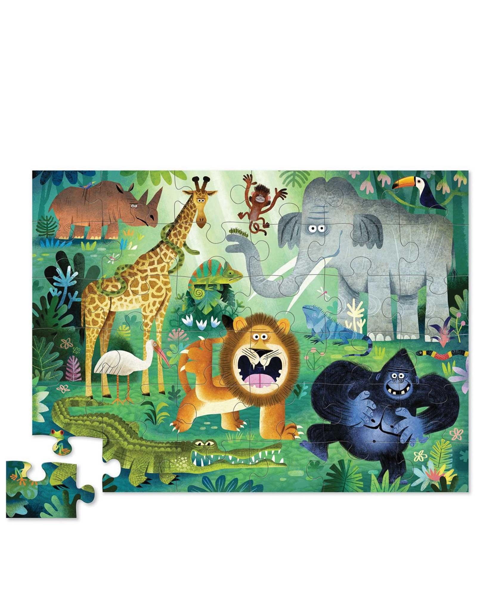 Crocodile Creek Puzzle - 36pieces - Very Wild Animals 3+