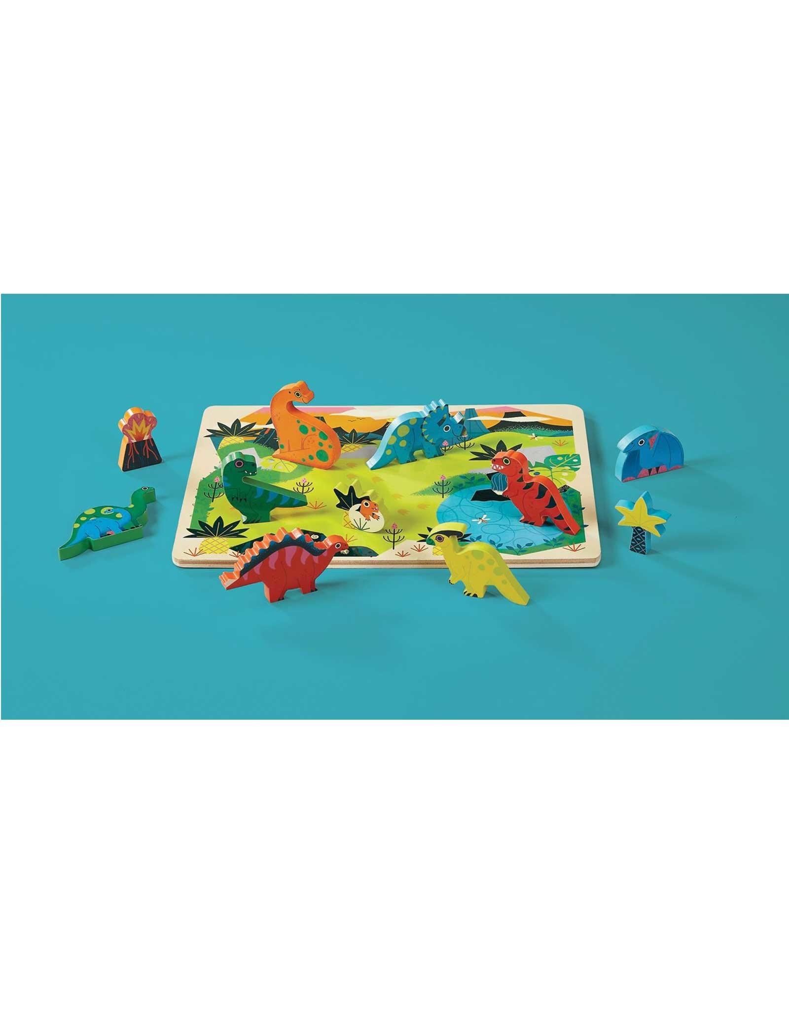 Crocodile Creek Wooden Puzzle - 16pieces - Dinosaur 2+