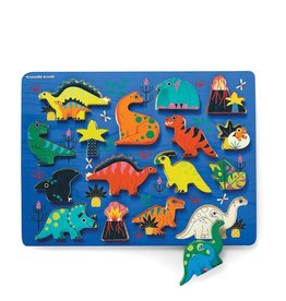 Crocodile Creek Wooden Puzzle - 16pieces - Dinosaur 2+