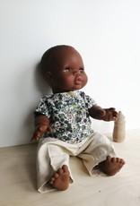 Veille sur toi Collection d'été pour poupée - Pantalon beige et chandail blanc et vert