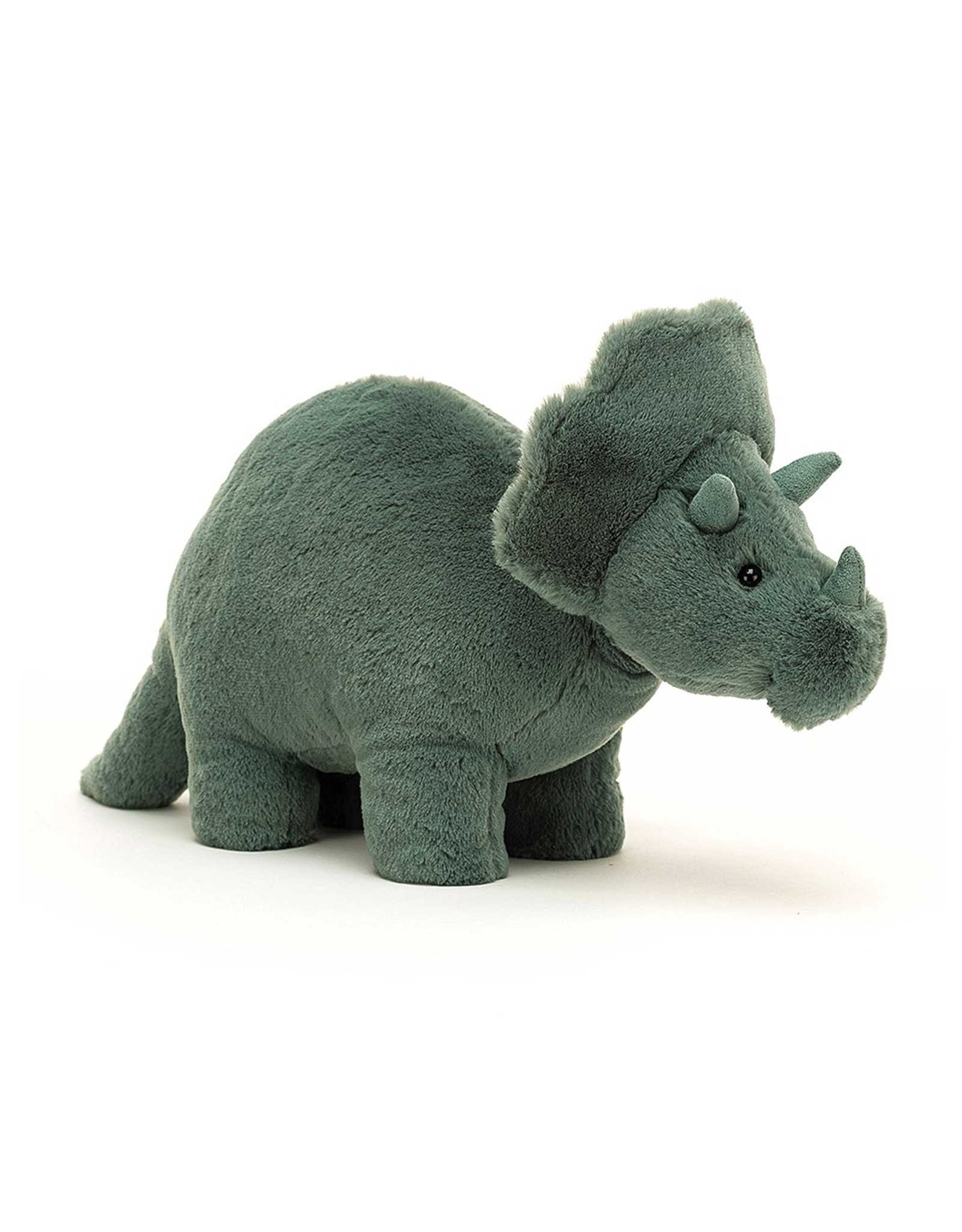 Jelly Cat Peluche - Fossilly le triceratops