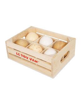 Le Toy Van Cagette à oeufs en bois - Demi douzaine
