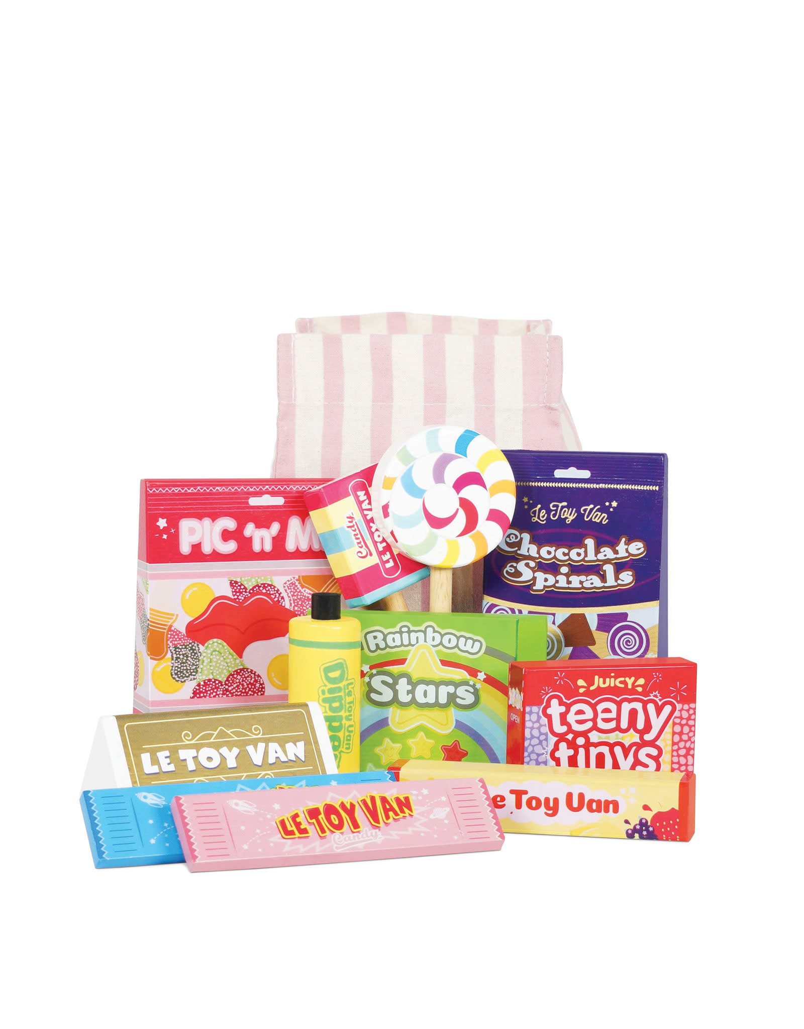 Le Toy Van Bonbons, friandises et pochette en tissu