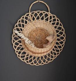 Coconeh Wicker Flower Wall Basket - Medium