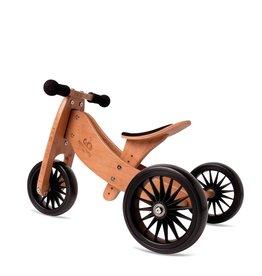 Kinderfeets 2-in-1 Tiny Tot PLUS Tricycle & Balance Bike - Bamboo