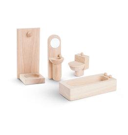 Plan Toys Ensemble maison de poupée - Salle de bain