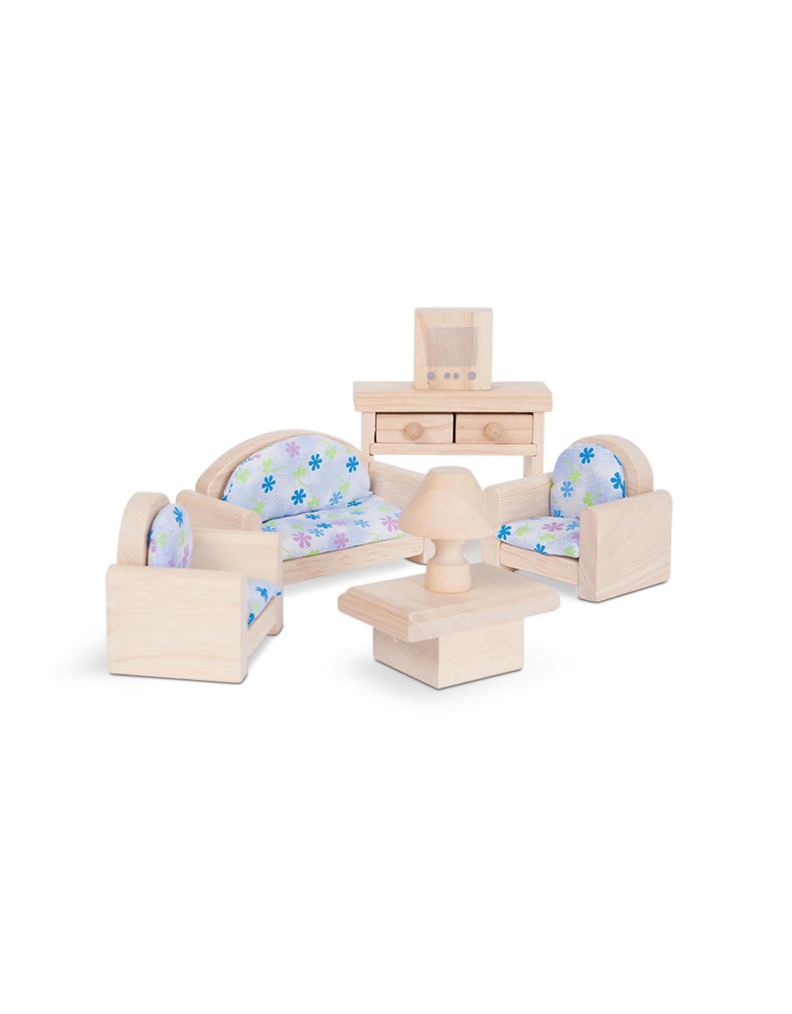 Plan Toys Ensemble maison de poupée - Salon