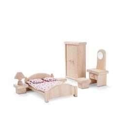 Plan Toys Ensemble maison de poupée - Chambre des maîtres