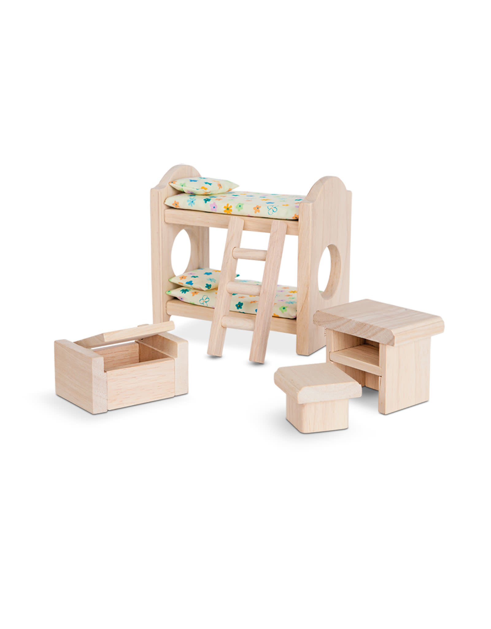 Plan Toys Ensemble maison de poupée - Chambre des enfants