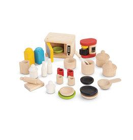 Plan Toys Ensemble maison de poupée - Accessoires pour la cuisine