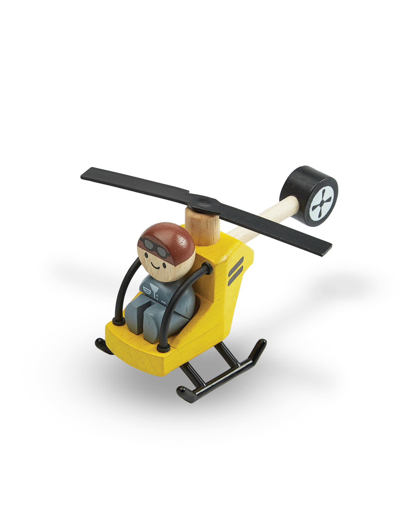 Plan Toys Wooden Helicopter With Pilot