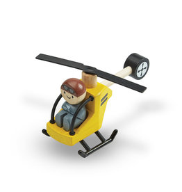 Plan Toys Hélicoptère en bois avec pilote