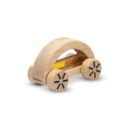 Plan Toys Voiture en bois - Wautomobile jaune