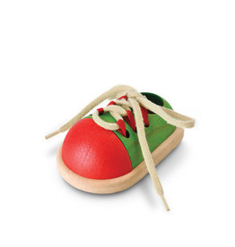Plan Toys Wooden Tie-Up Shoe