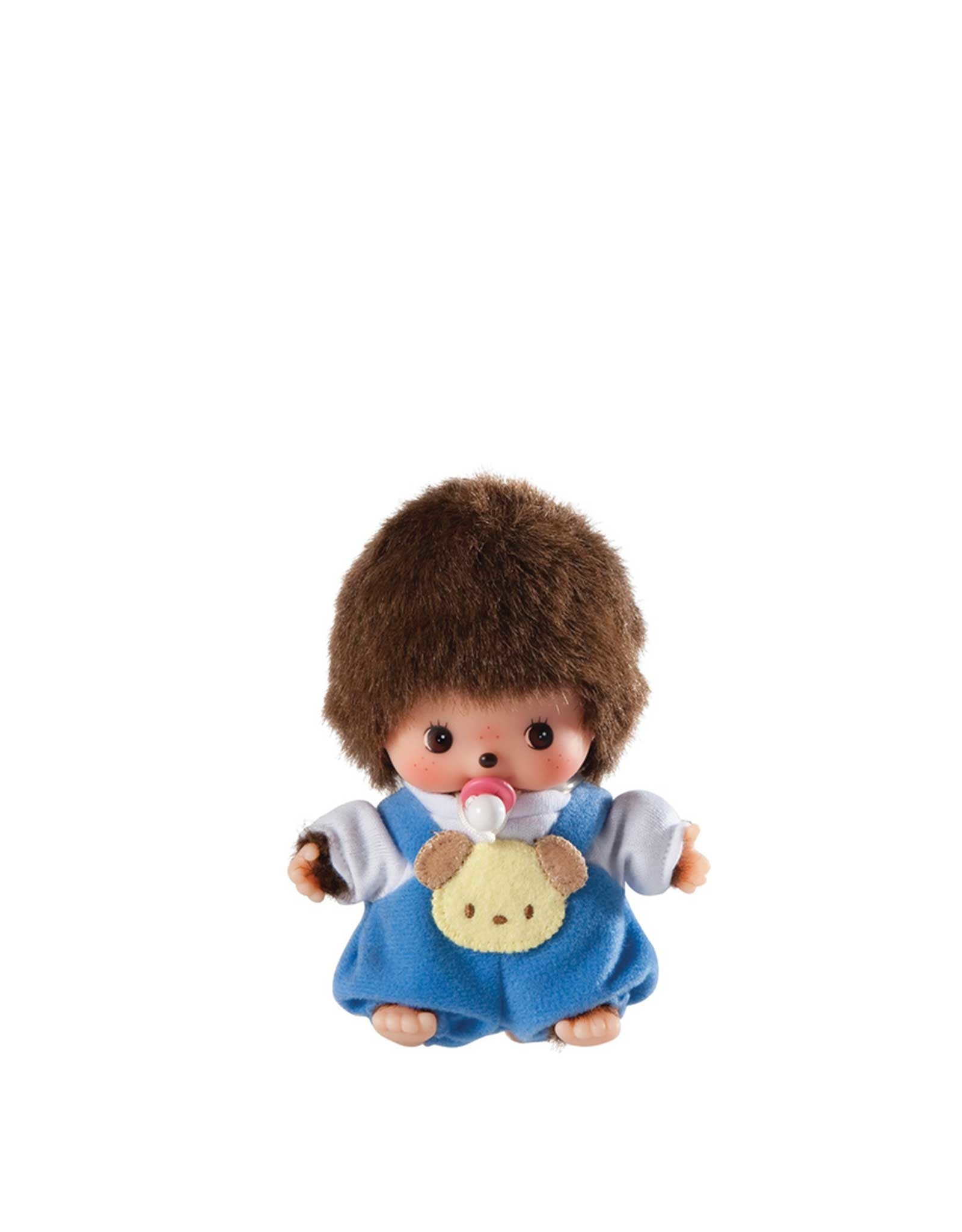 Monchhichi Bebichhichi - Bébé garçon avec salopette bleue