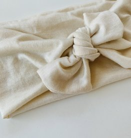 Béguin Crossed Headband 2 in 1 - Beige tan 0-24 Months