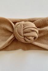 Béguin Bandeau à noeud fleur - Caramel - Taille unique