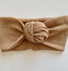 Béguin Flower Bow Headband - Caramel - One Size