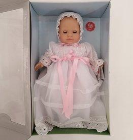 Paola Reina Poupée Los Manu yeux fixes et cils - Poupée à robe blanche