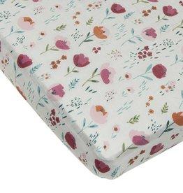 Loulou Lollipop Drap contour bassinette -  Floraison de roses
