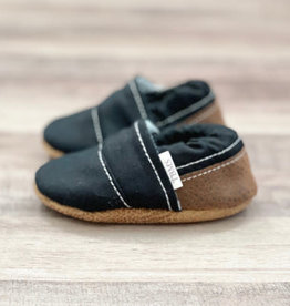Trendy Baby Mocc Shop Black And Brown Angled Moccasins