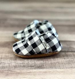 Trendy Baby Mocc Shop Mocassins - Carottés Noir et blanc incliné