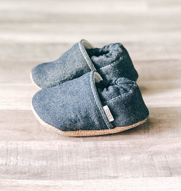 Trendy Baby Mocc Shop Denim Angled Moccasins