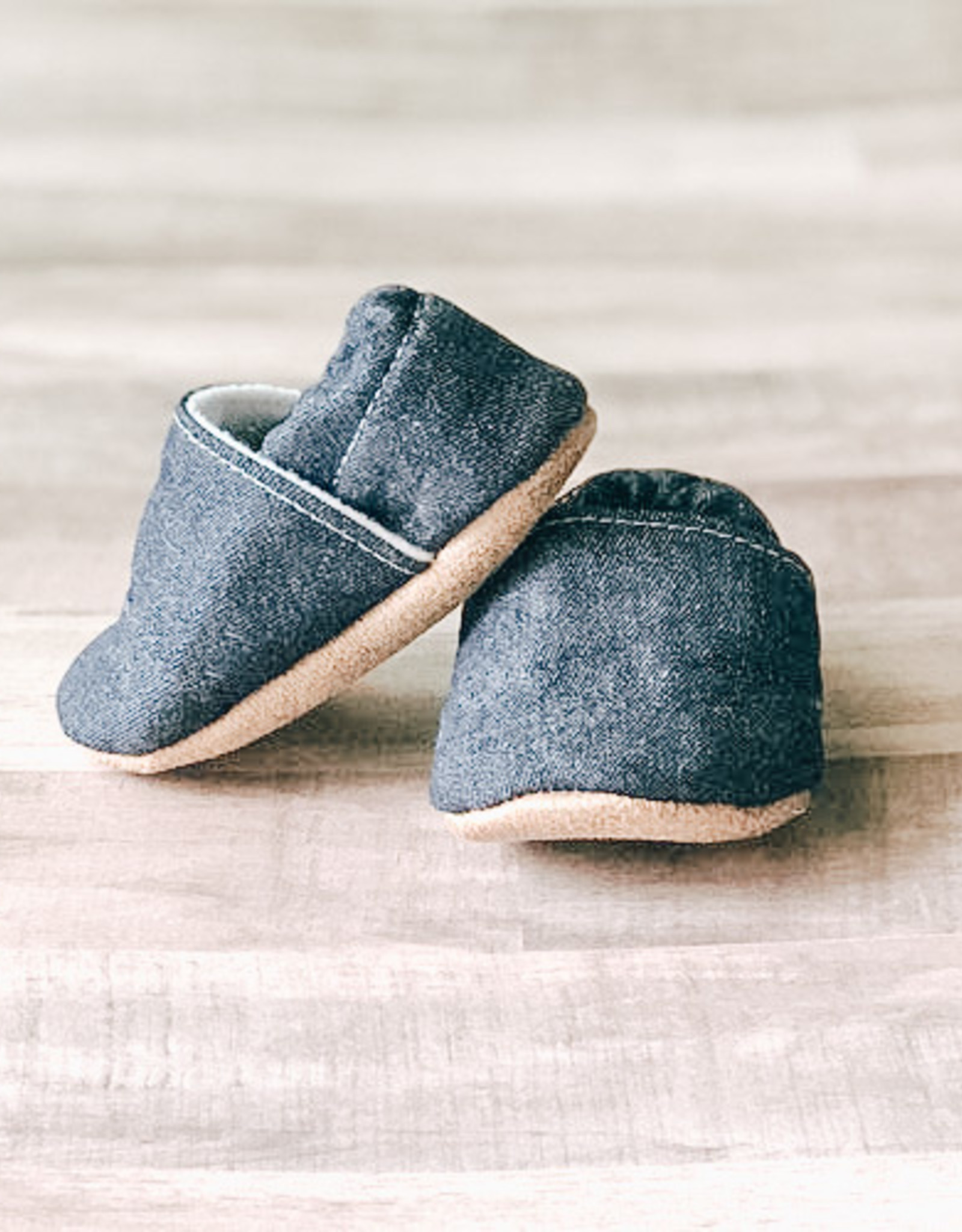 Trendy Baby Mocc Shop Mocassins - Denim bleu  incliné