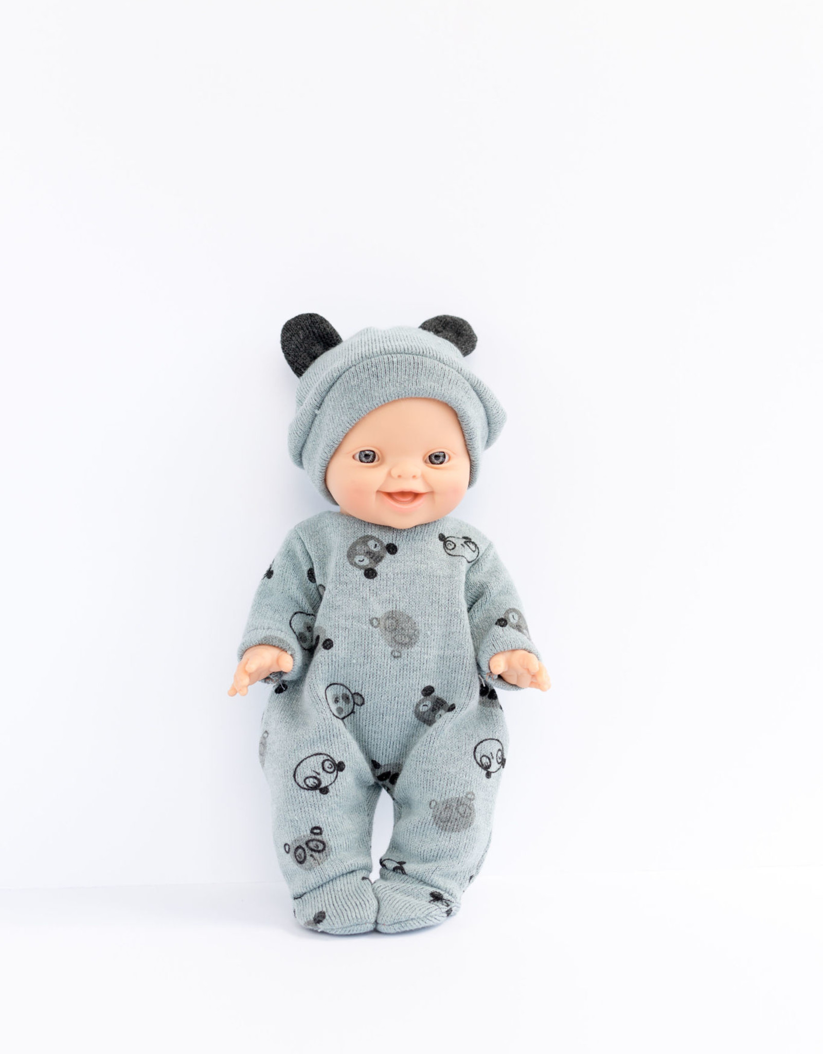Paola Reina Doll clothes - Gray Teddy Bear Pajamas and Hat
