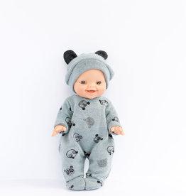 Paola Reina Vêtements de poupée - Pyjama et bonnet ourson gris