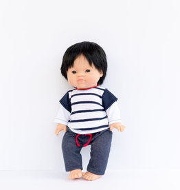 Paola Reina Gordis Doll Clothes - Blue pants and shirt