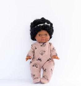 Paola Reina Vêtements de poupée - Pyjama ourson rose et bandeau