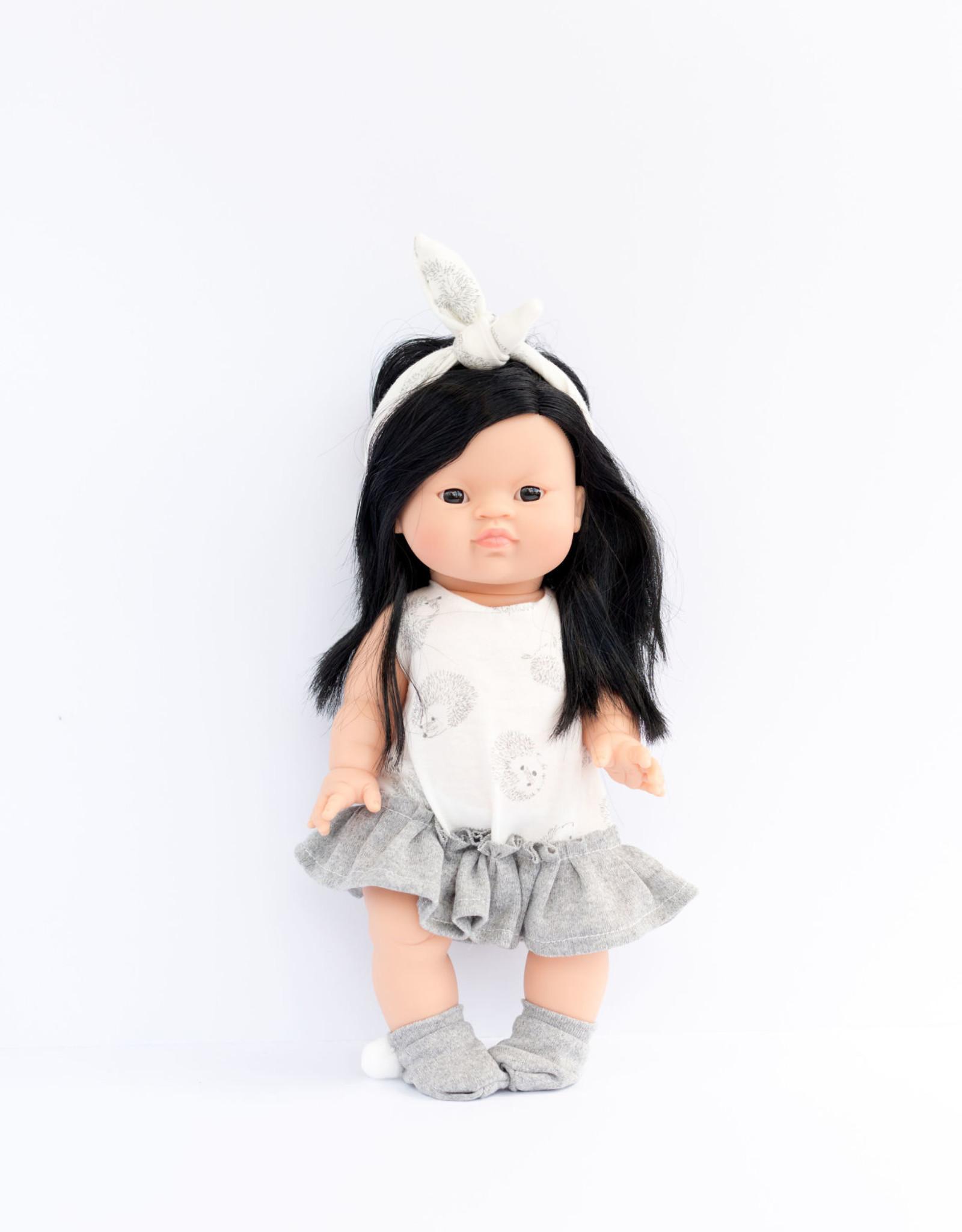 Paola Reina Doll clothes - Hedgehog white doll dress