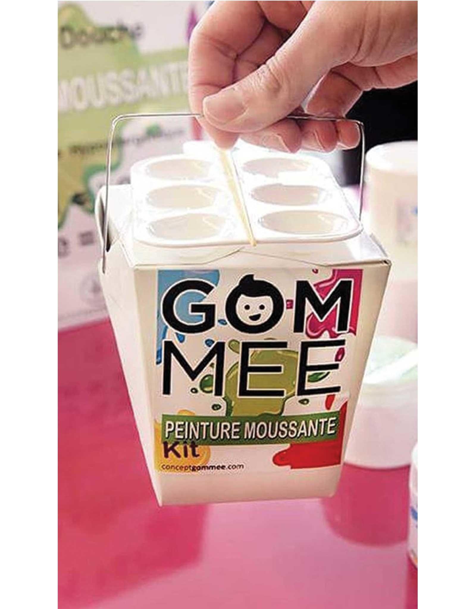 GOM-MEE Boîte cadeau peinture moussante - Bleu, vert et rose