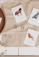 Pastel Learning Cards - Farm Animals