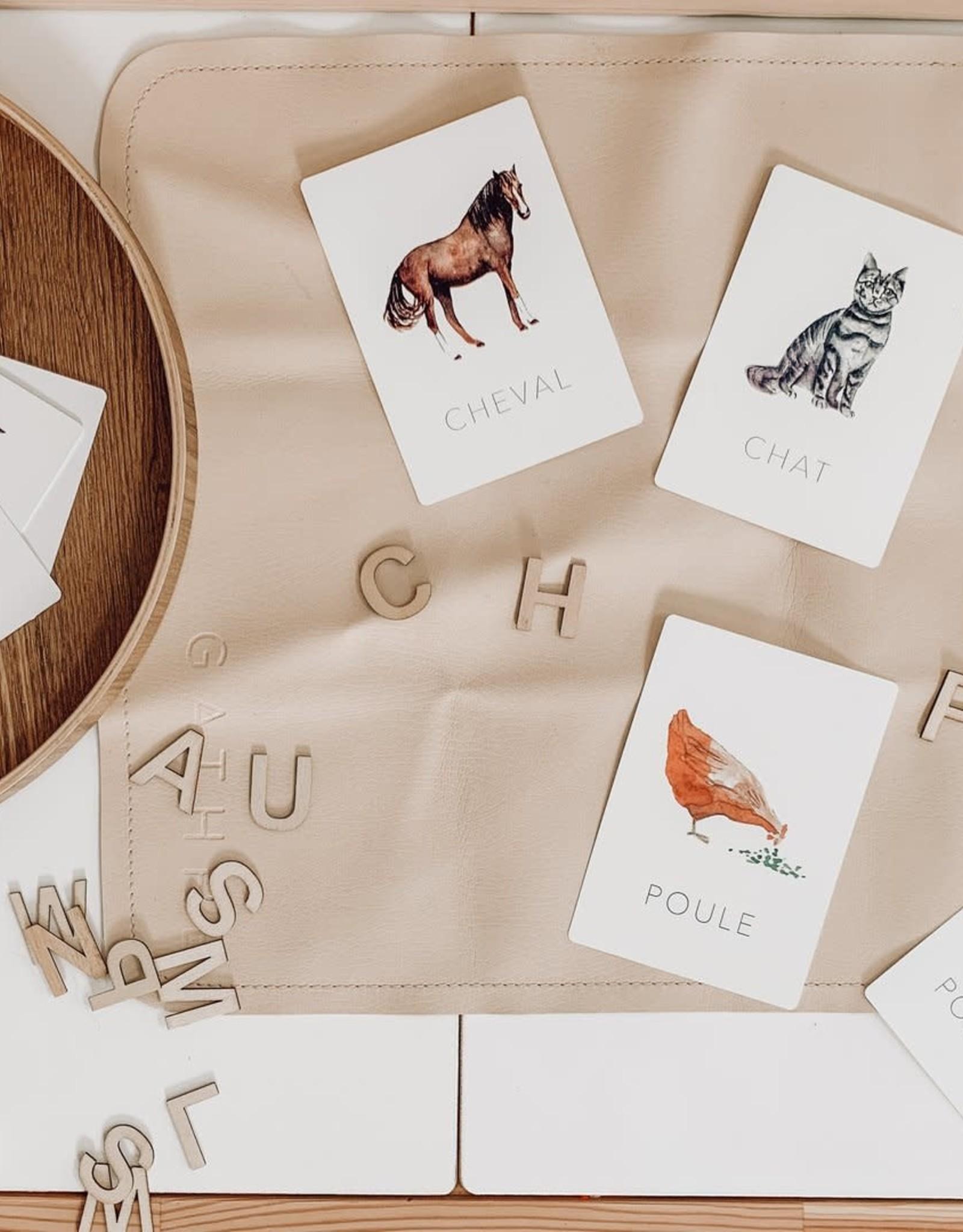 Pastel Cartes d'apprentissage - Les animaux de la ferme