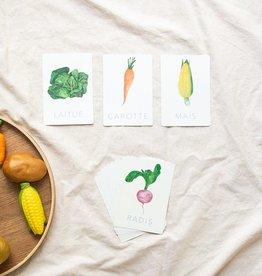 Pastel Cartes d'apprentissage - Les légumes