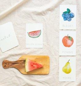 Pastel Cartes d'apprentissage - Les fruits