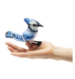 Folkmanis Mini Blue Jay - Finger Puppet