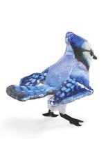 Folkmanis Mini Blue Jay - Finger Puppet